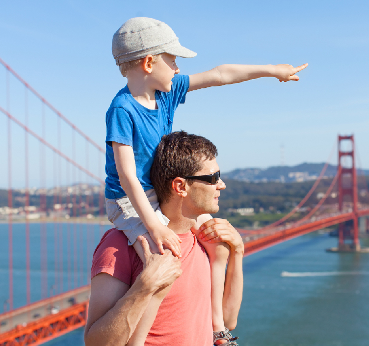 Family day out in San Francisco