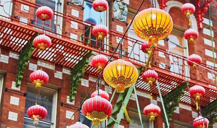 Lanterns in Chinatown in San Francisco