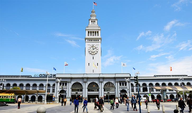 Embarcadero Ferry Building in San Francisco