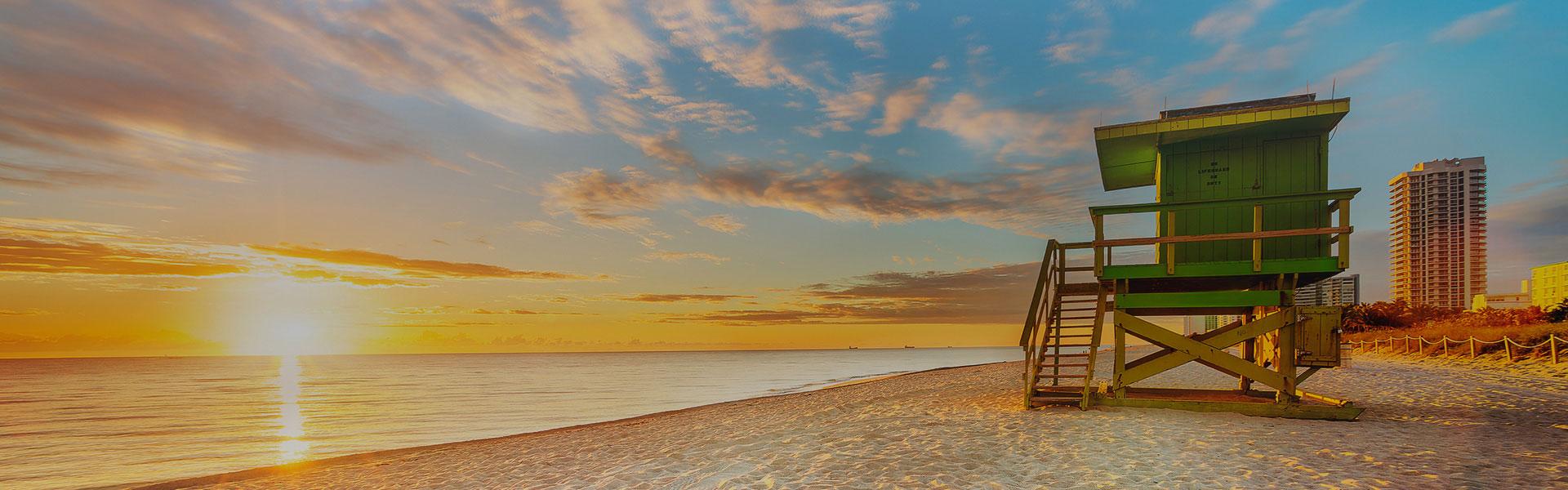 South Beach al atardecer en Miami