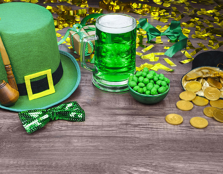 St Patrick's Day paraphernalia