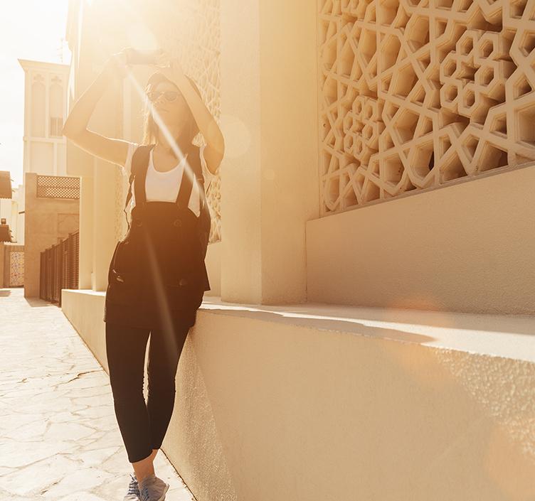 Woman sightseeing in Dubai