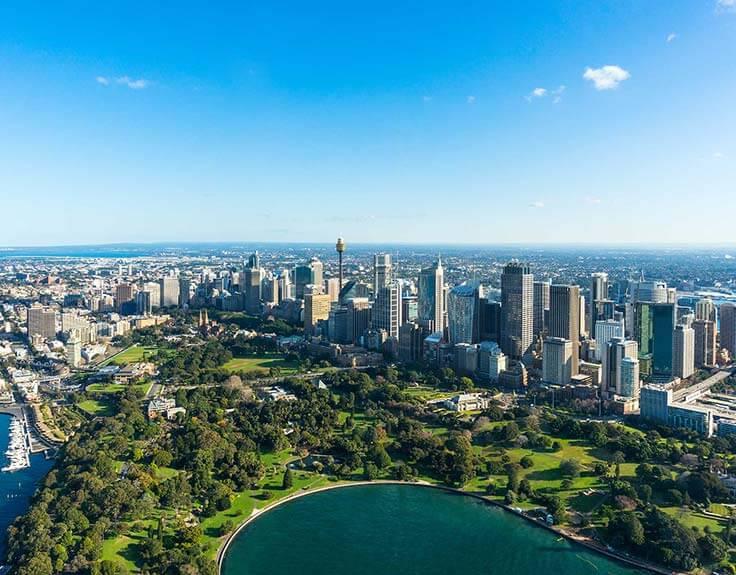 Royal Botanic Gardens in Sydney