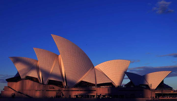 Sydney Opera House at Sunset in Sydney
