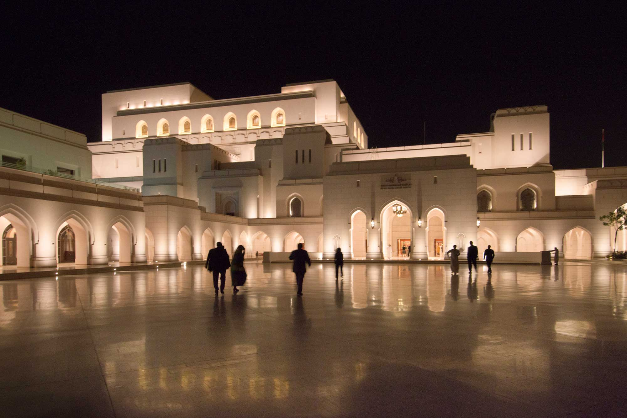 Royal Opera House at night in Muscat