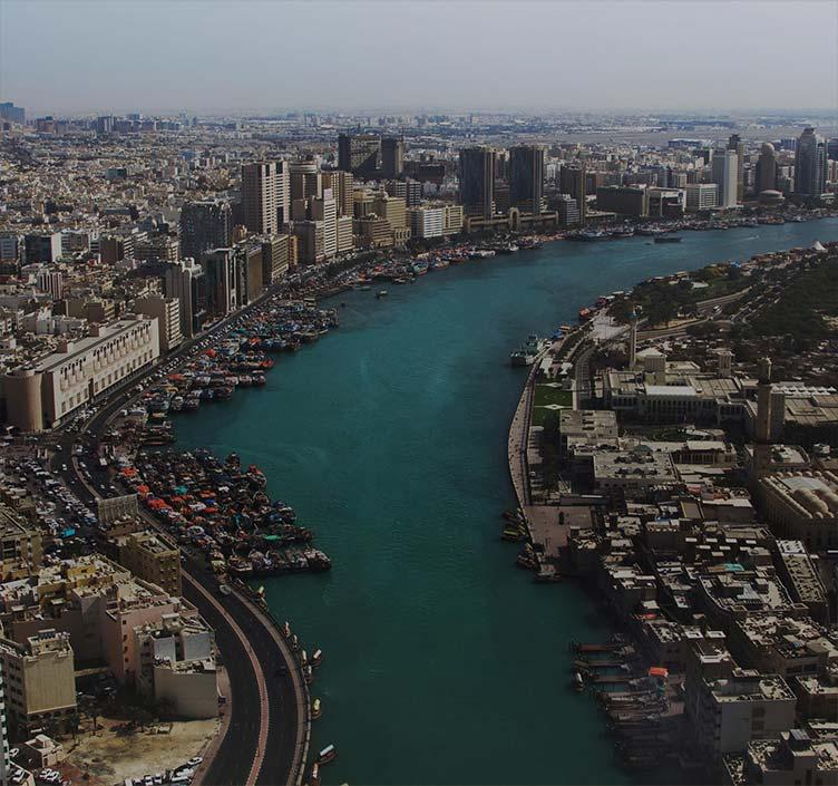 Stadtansicht vom Dubai Creek