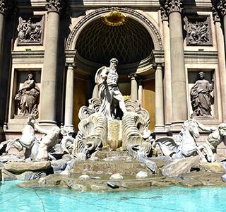 Caesars Palace Fountainin Las Vegas