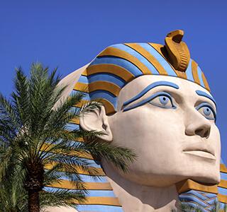 Egyptian Head Statueat Luxor Hotel