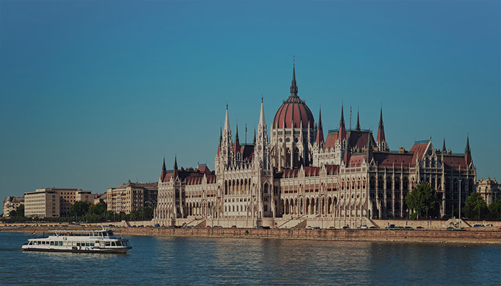 View of Parliament Buidling in Budapest