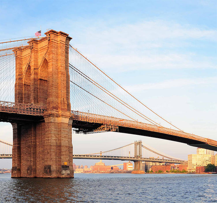 Brooklyn Bridge and the East River in New York