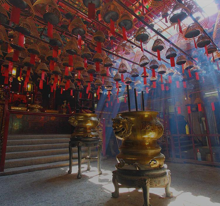 Inside the Man Mo Temple Hong Kong