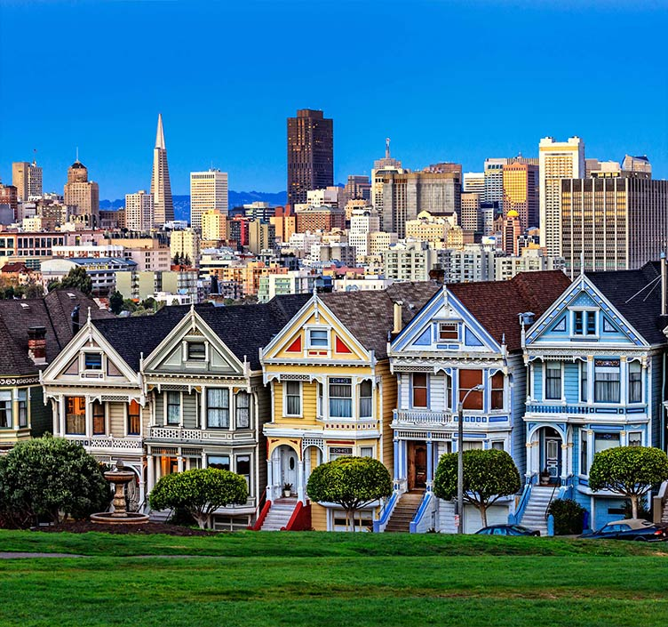 Painted Ladies Houses in San Francisco