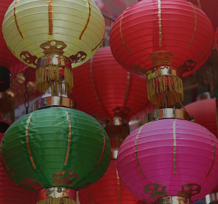 Chinese lanterns at Stanley Market in Hong Kong