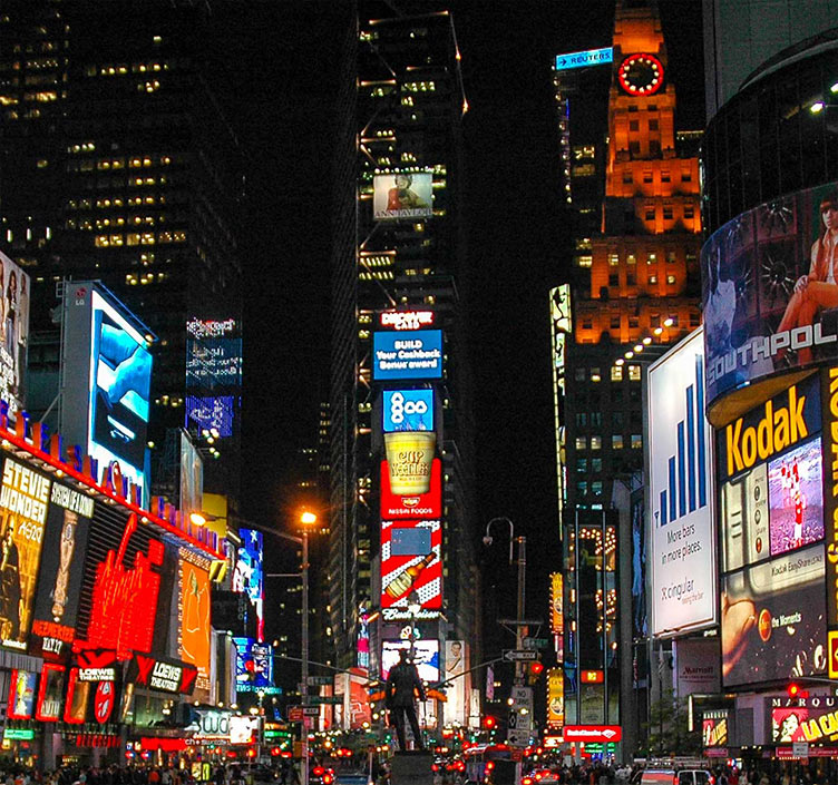 Times Square New York by night