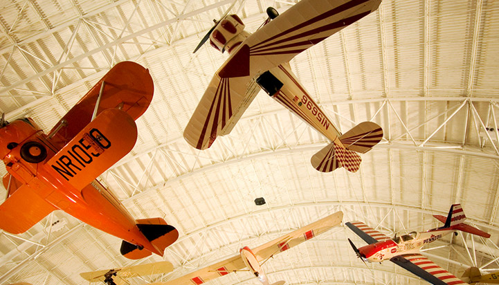 Model planes at the National Air and Space Museum