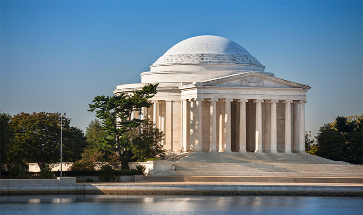 Jefferson Memorial in Washington DC by day