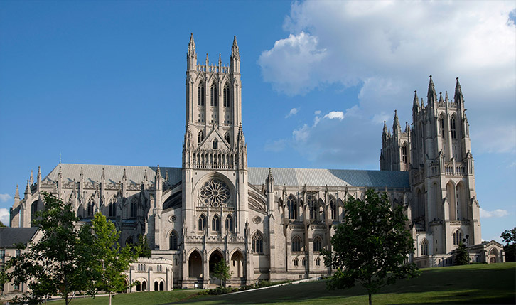 National Cathedral in Washington DC by day
