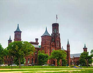 Smithsonian Castle in Washington DC