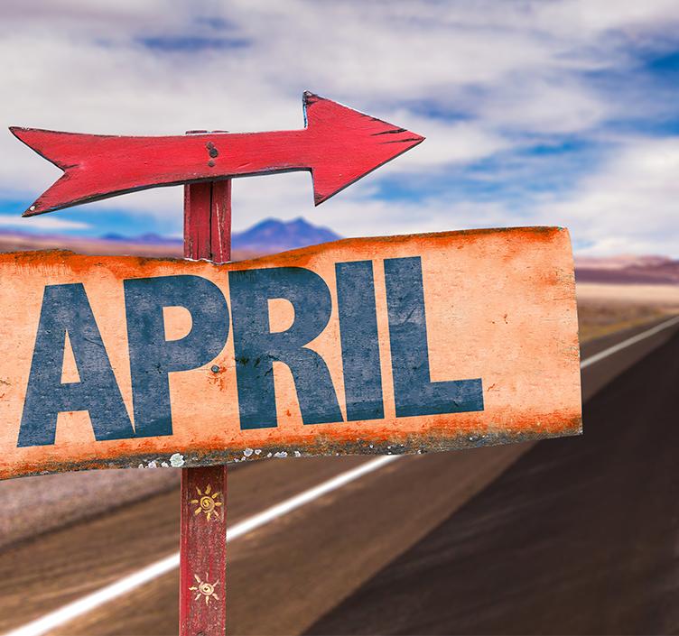 April road trip sign