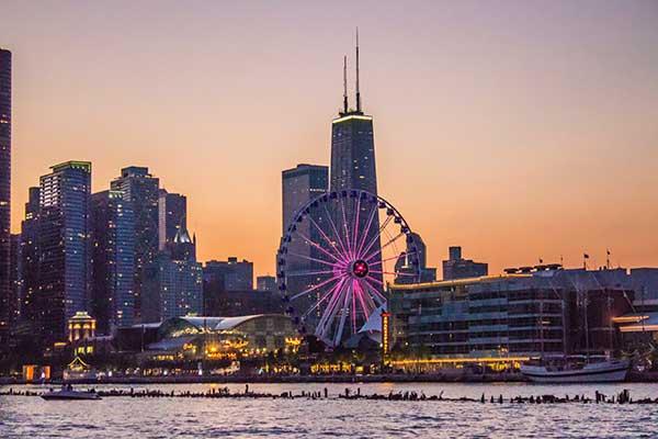 Navy Pier Sunset