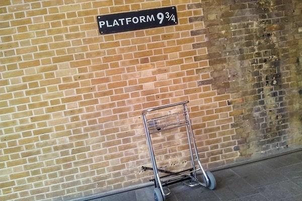 andén 9 ¾ de Harry Potter en la estación de Kings Cross