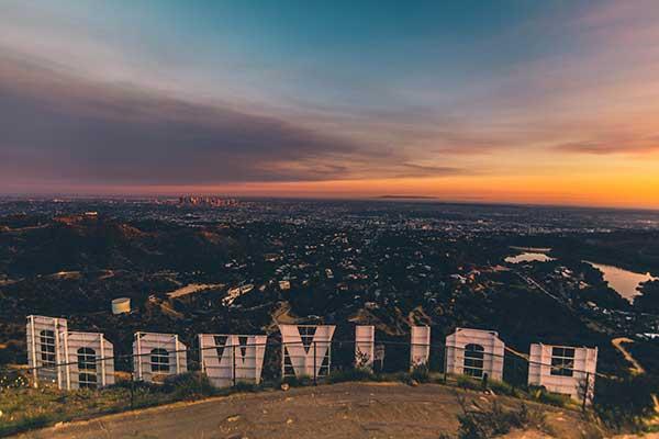 Sunset views of Los Angeles
