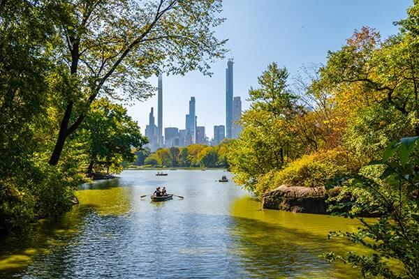 Central Park Lake boat ride
