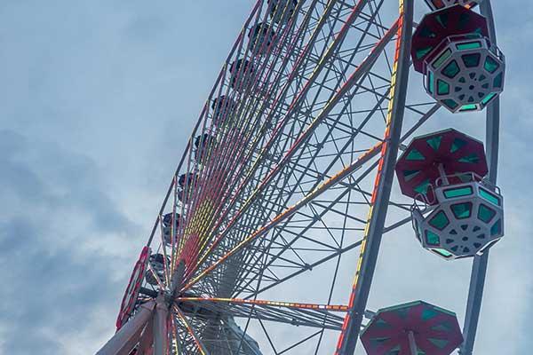 The Riesenrad Ferris wheel