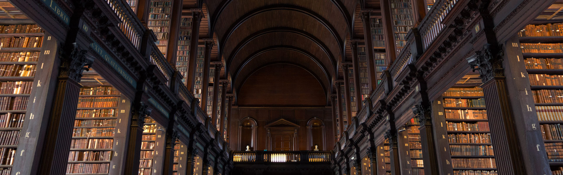 View of Trinity College Dublin Library