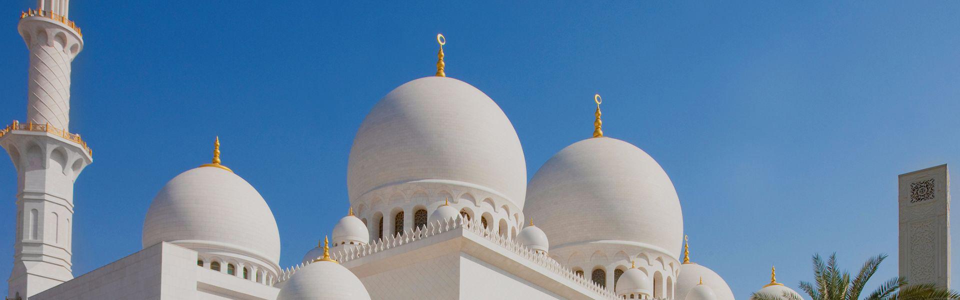 Kuppeln der Scheich-Zayid-Moschee