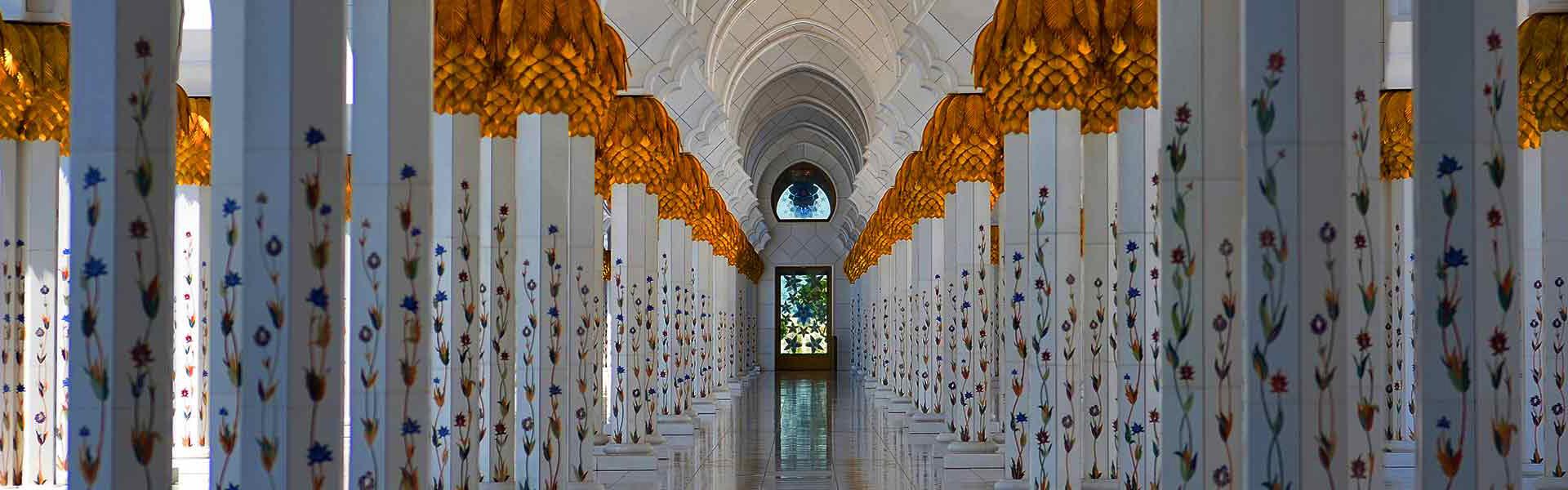 Korridor in der Scheich-Zayid-Moschee, Abu Dhabi