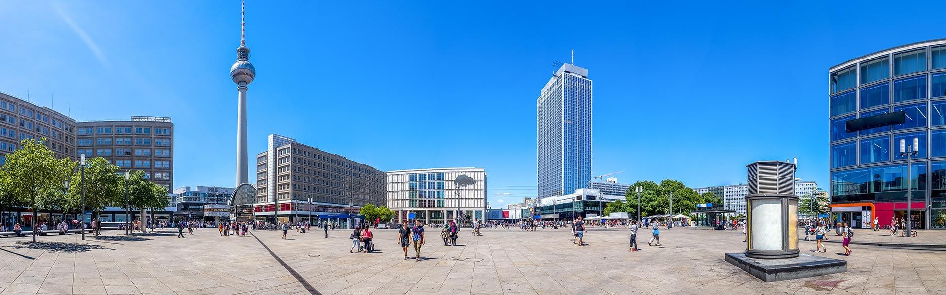 Skyline view of Alexanderplatz