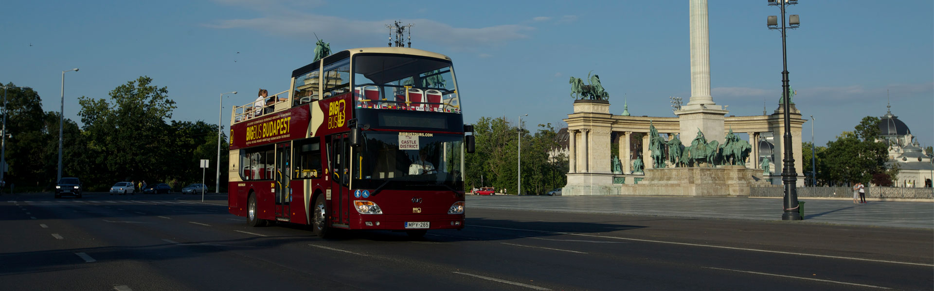 Big Bus Tours Passing Heroes' Square Budapest