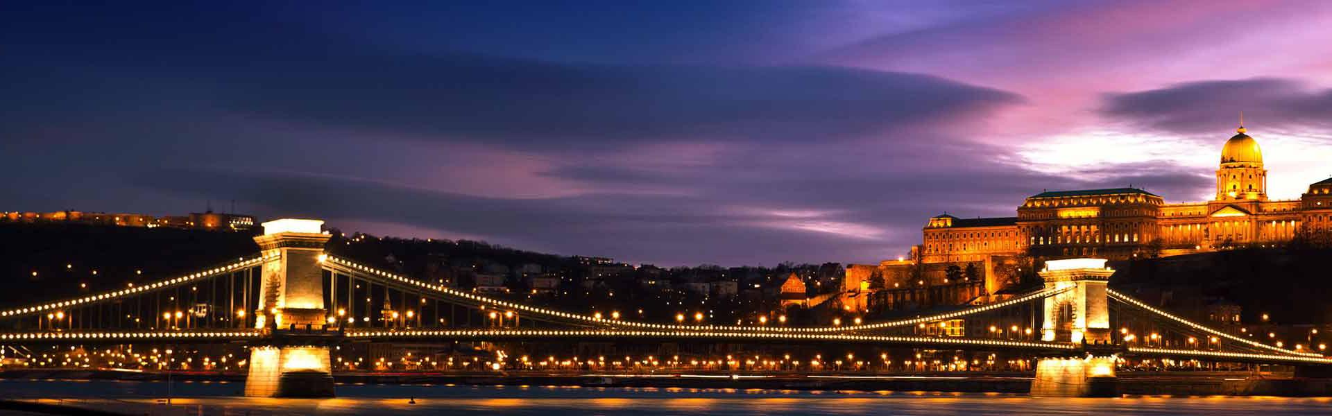 Chain Bridge Night Big Bus Tours Budapest