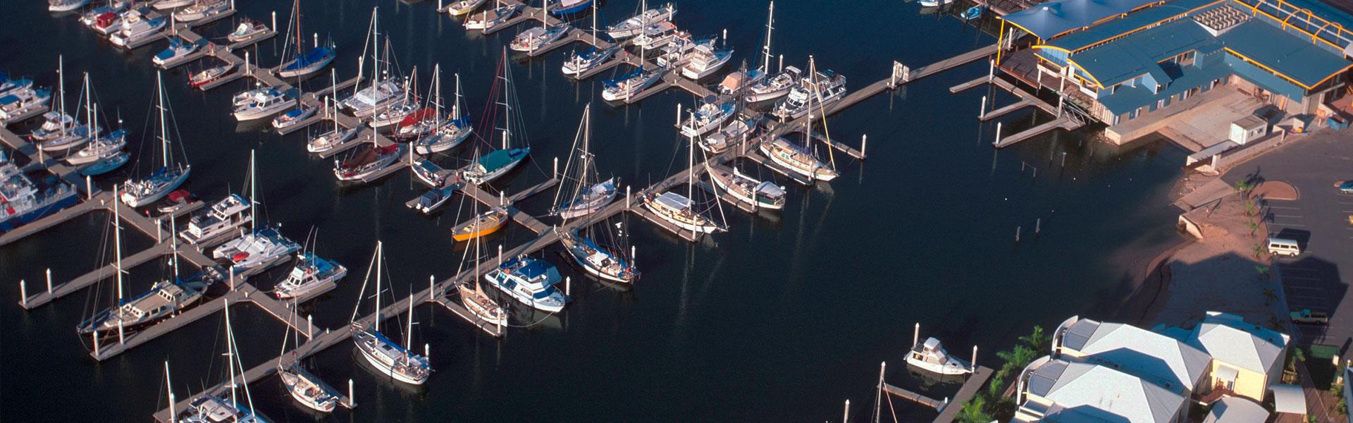 Arial View of Darwin Marina