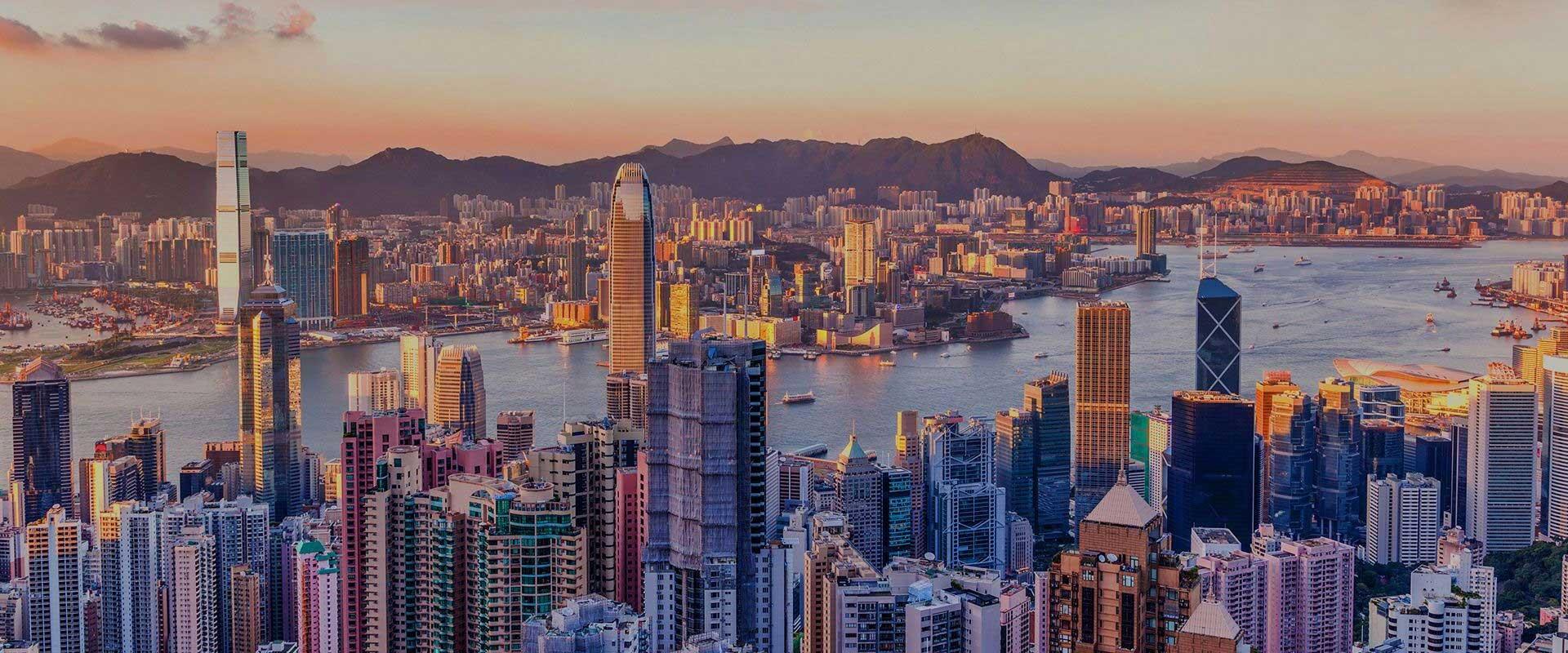 香港海港與高樓美景