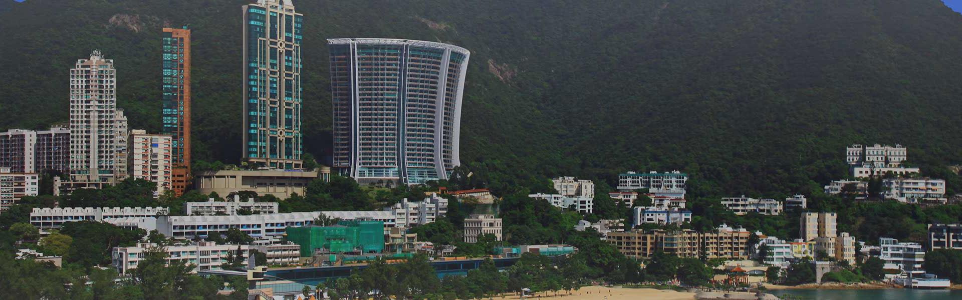 香港島香港仔及赤柱天際線景致