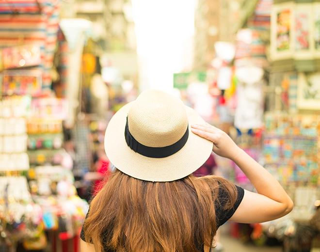 Lady in a market, Hong Kong