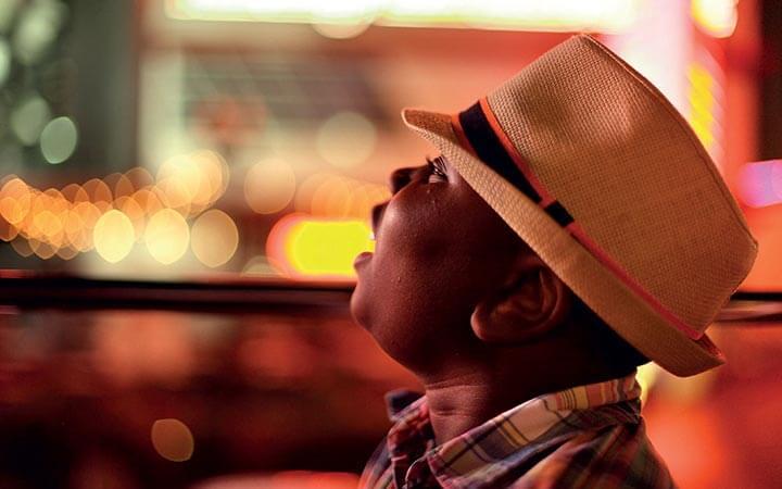Young boy enjoying Las Vegas bus tour