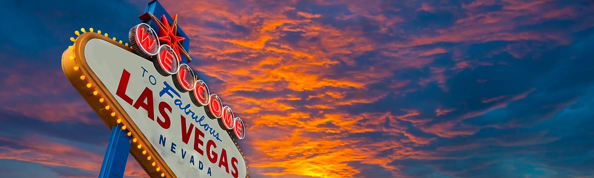 Las Vegas Welcome Sign at Sunset