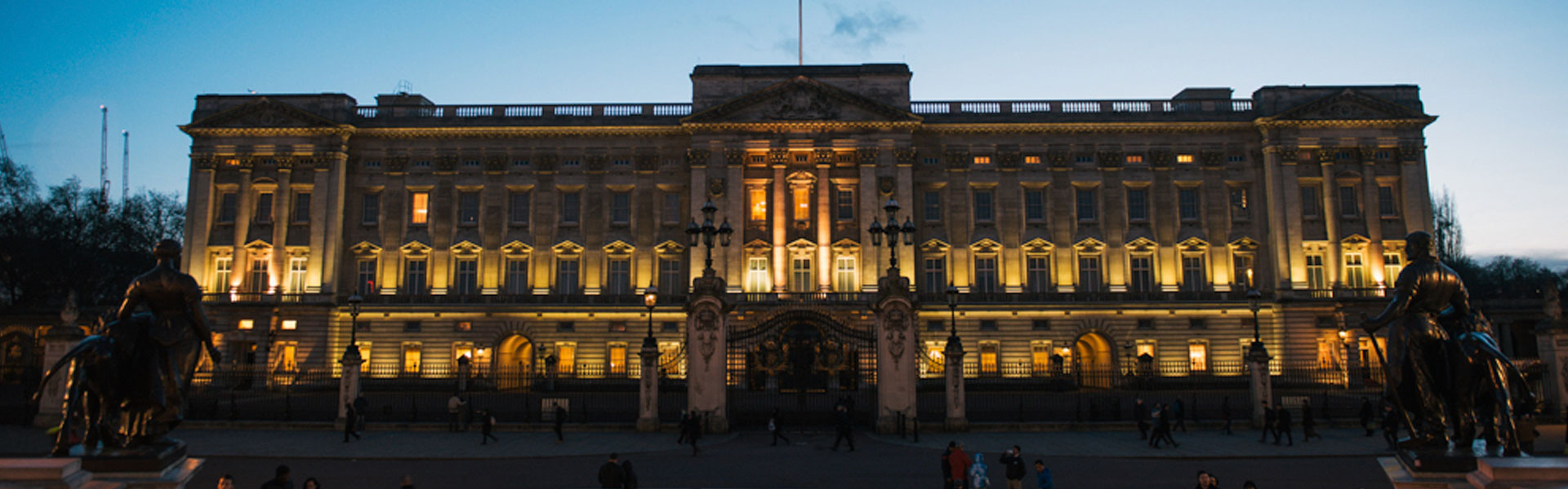View of Buckingham Palace at Dusk