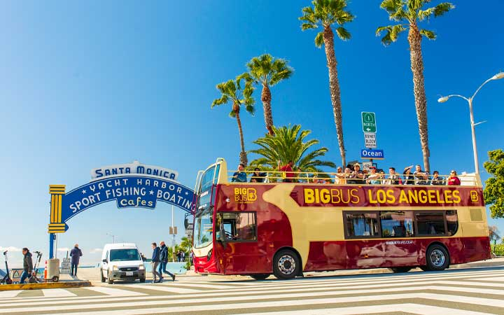 Big Bus Tour in Santa Monica, Los Angeles