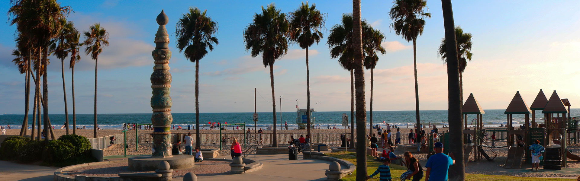 View of Venice Beach and Park
