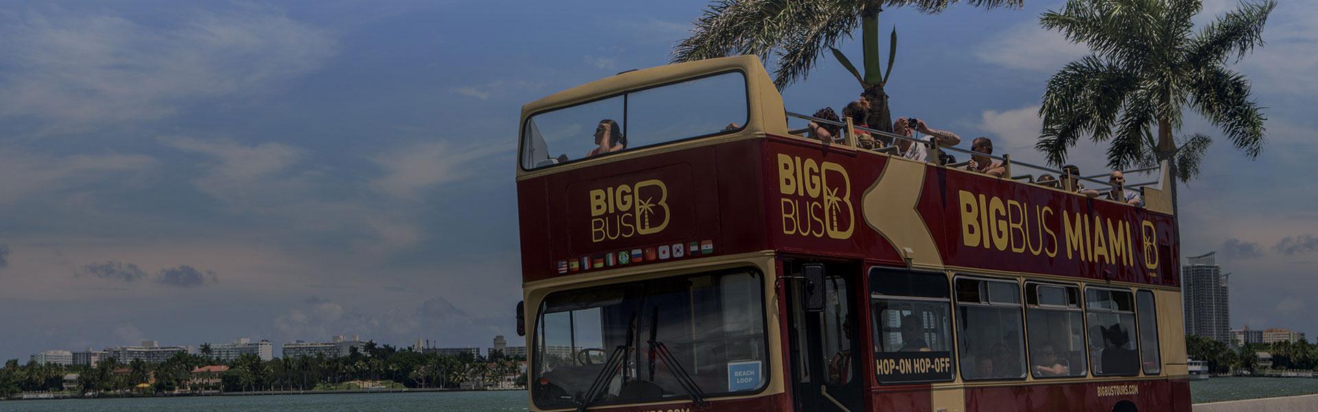 Touristen auf einer Tour mit Big Bus