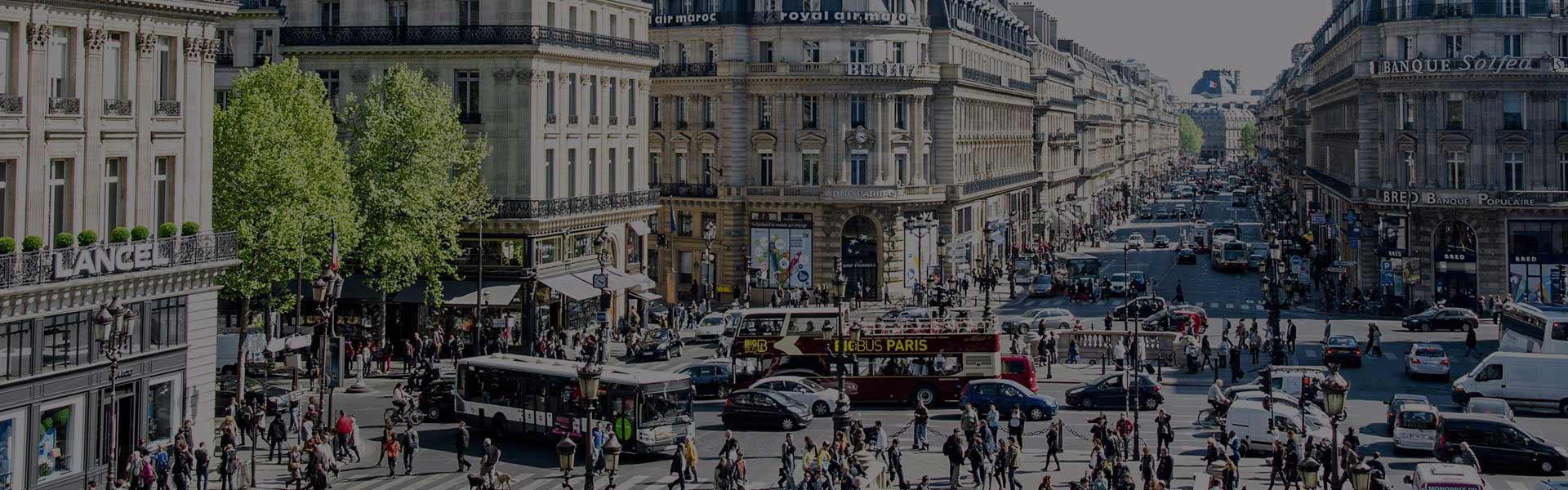 Vista de la Avenida de la Ópera de París