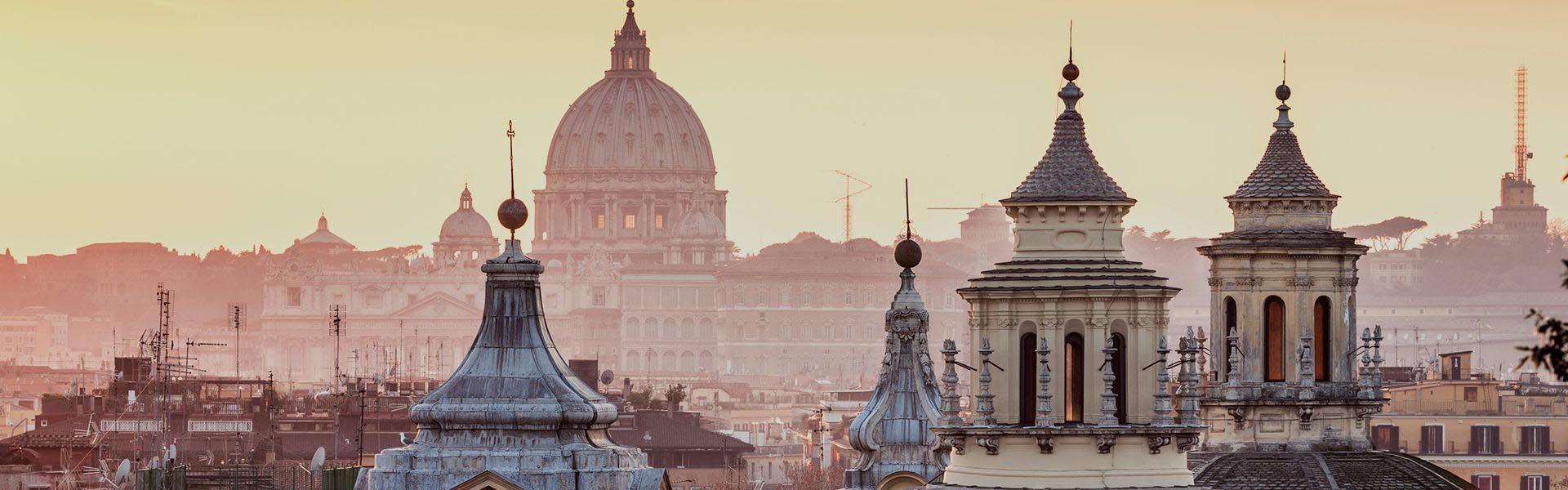 Rome skyline with St. Peter's Basilica