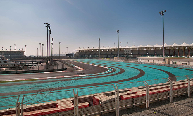 Racing track at Yas Island Abu Dhabi