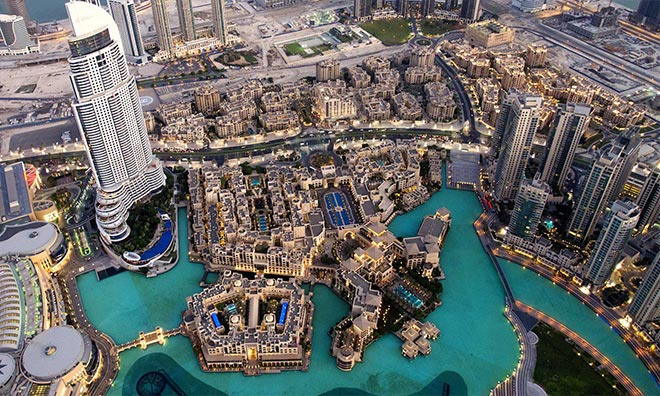 Ariel View of Dubai