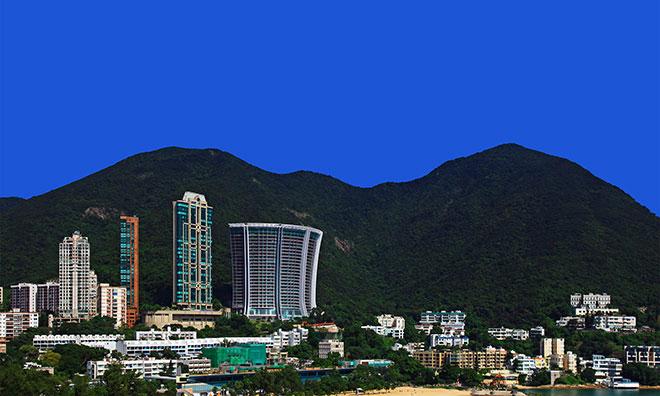 View of Aberdeen Stanley skyline Hong Kong