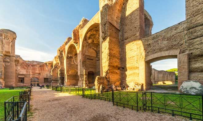 Las catacumbas de Roma y termas de Caracalla